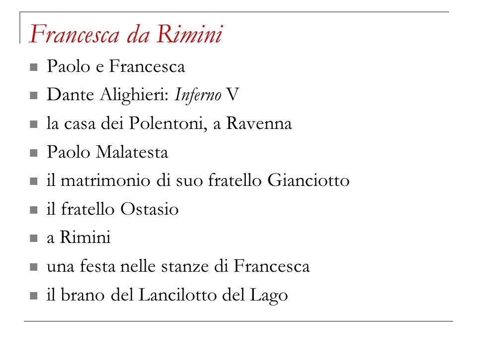 Francesca da Rimini Paolo e Francesca Dante Alighieri: Inferno V