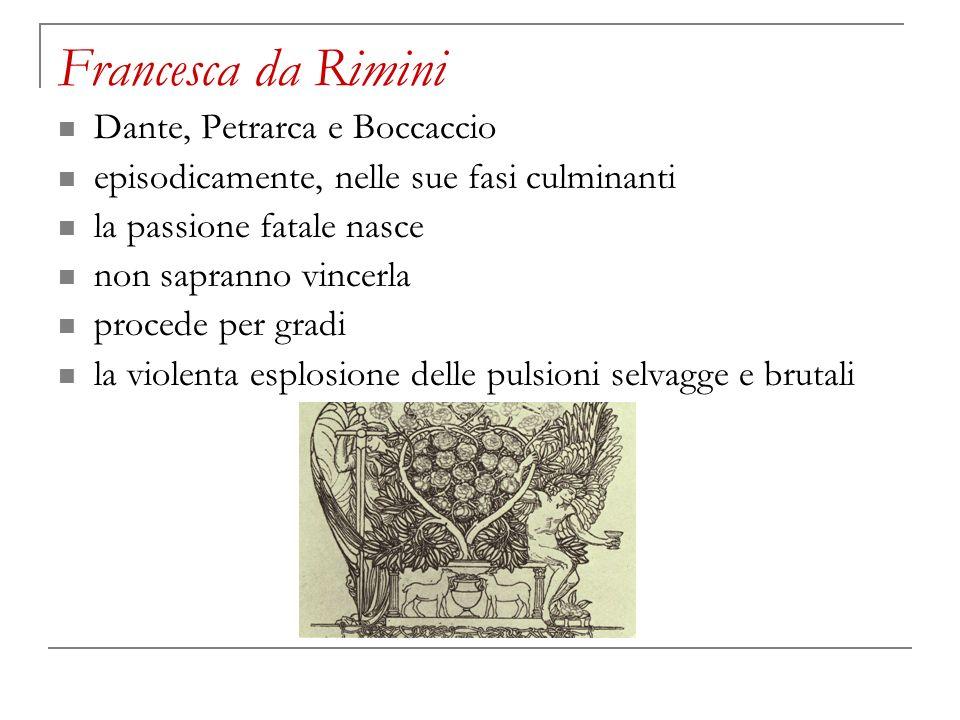 Francesca da Rimini Dante, Petrarca e Boccaccio