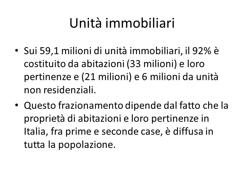 Unità immobiliari