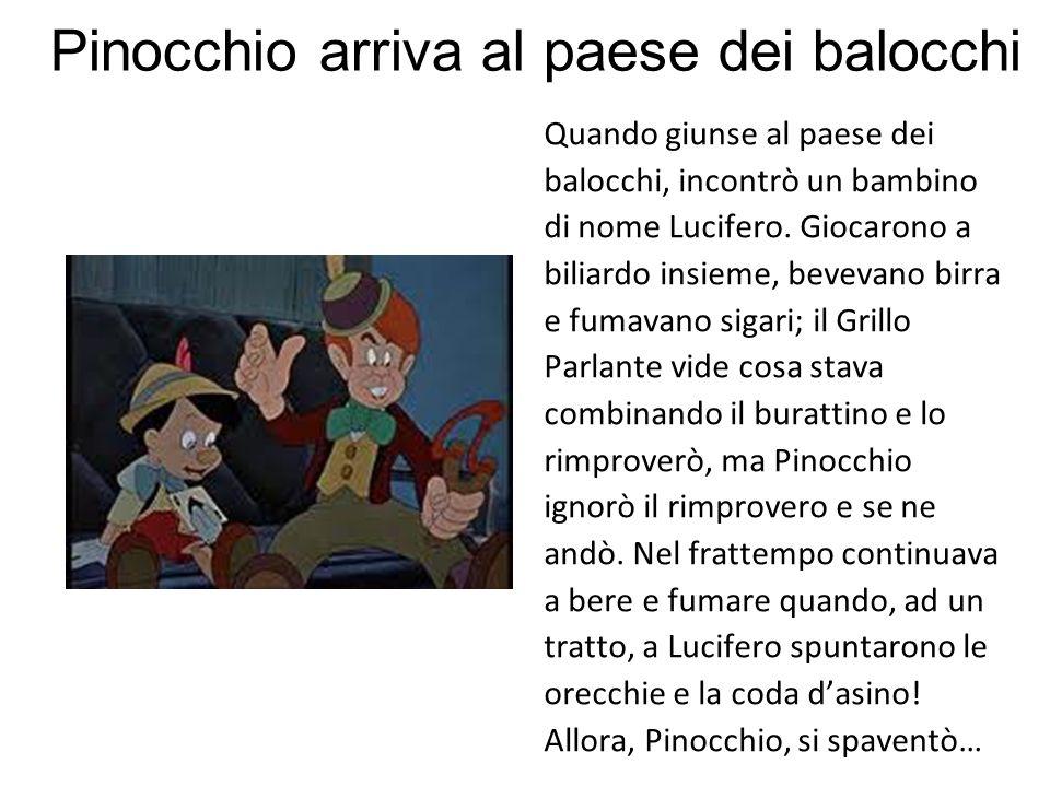 Pinocchio arriva al paese dei balocchi