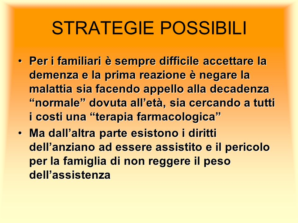 STRATEGIE POSSIBILI