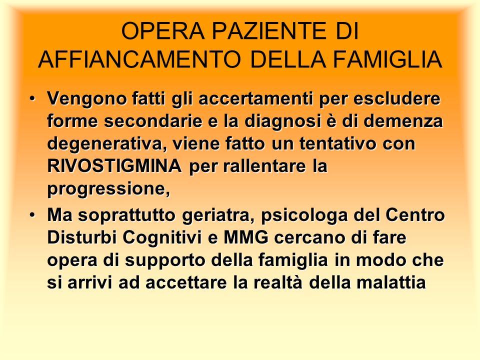 OPERA PAZIENTE DI AFFIANCAMENTO DELLA FAMIGLIA