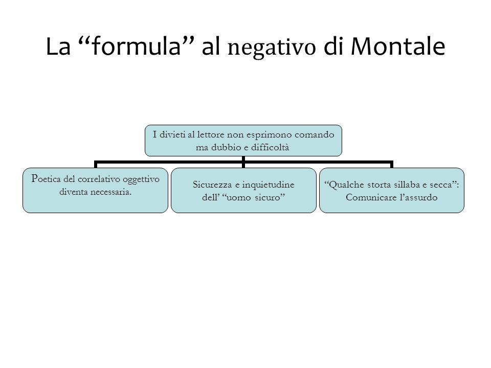 La formula al negativo di Montale