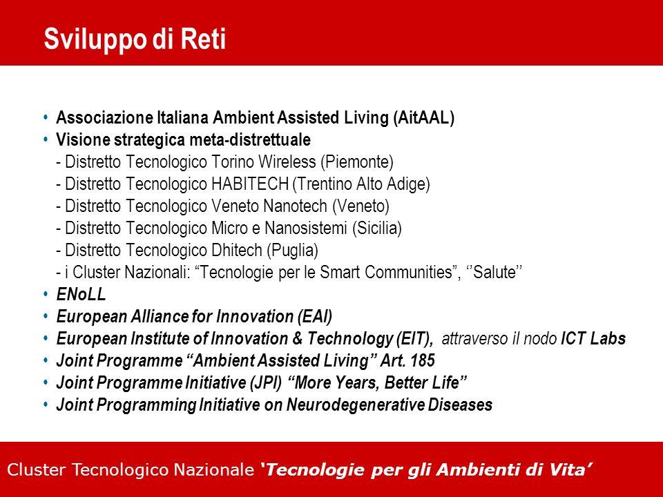 Sviluppo di Reti Associazione Italiana Ambient Assisted Living (AitAAL) Visione strategica meta-distrettuale.