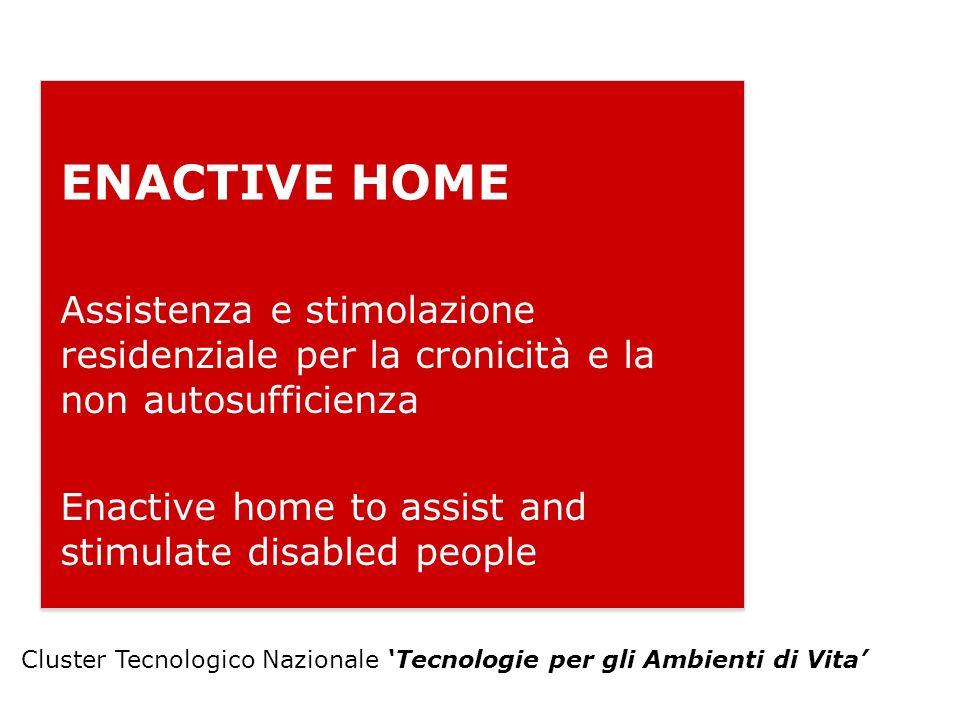 ENACTIVE HOME Assistenza e stimolazione residenziale per la cronicità e la non autosufficienza.