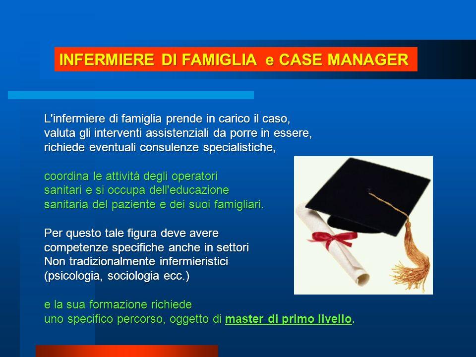 INFERMIERE DI FAMIGLIA e CASE MANAGER