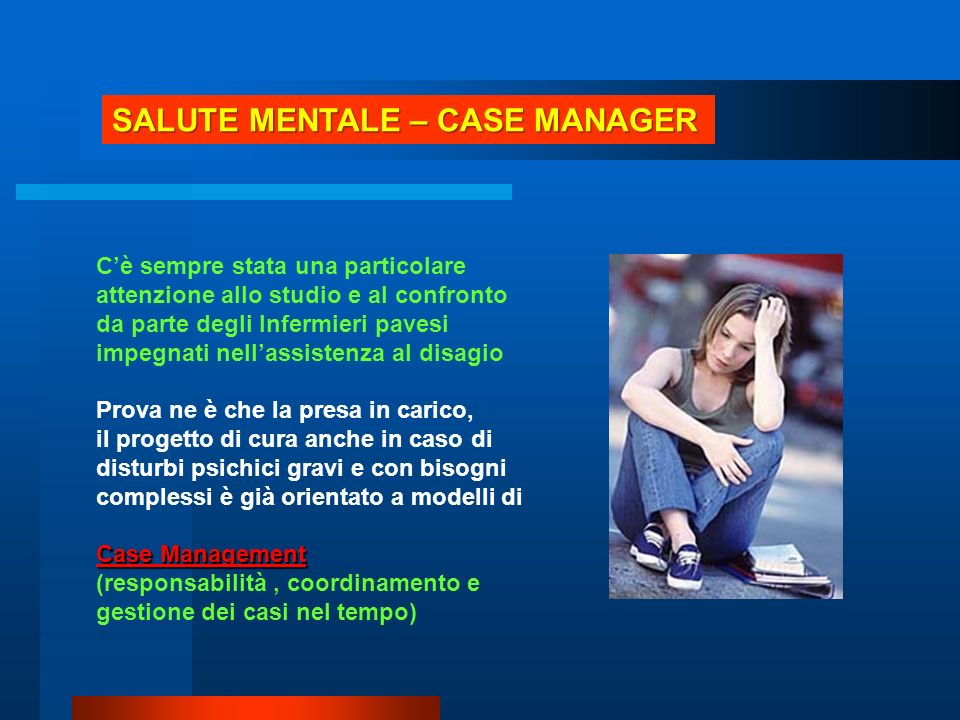 SALUTE MENTALE – CASE MANAGER