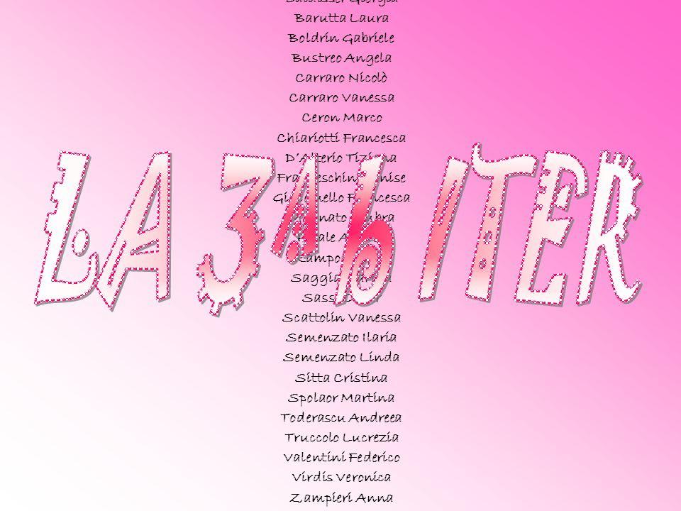 LA 3^ b ITER Baldisser Giorgia Barutta Laura Boldrin Gabriele