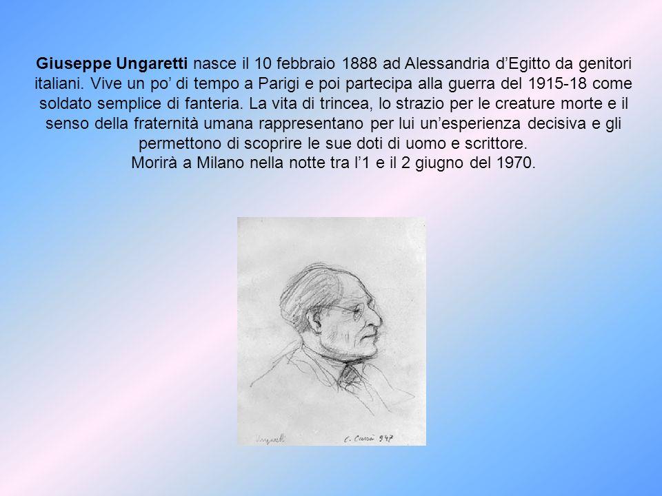 Morirà a Milano nella notte tra l'1 e il 2 giugno del 1970.