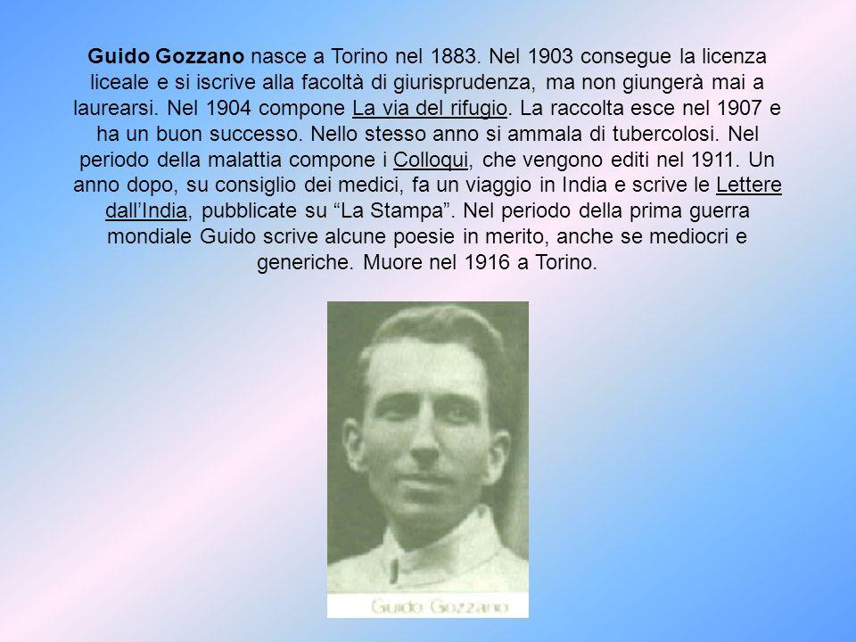 Guido Gozzano nasce a Torino nel 1883