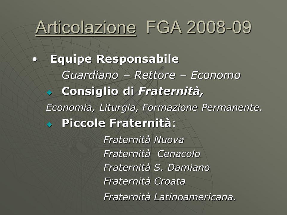 Articolazione FGA 2008-09 Equipe Responsabile