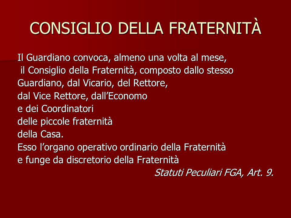 CONSIGLIO DELLA FRATERNITÀ