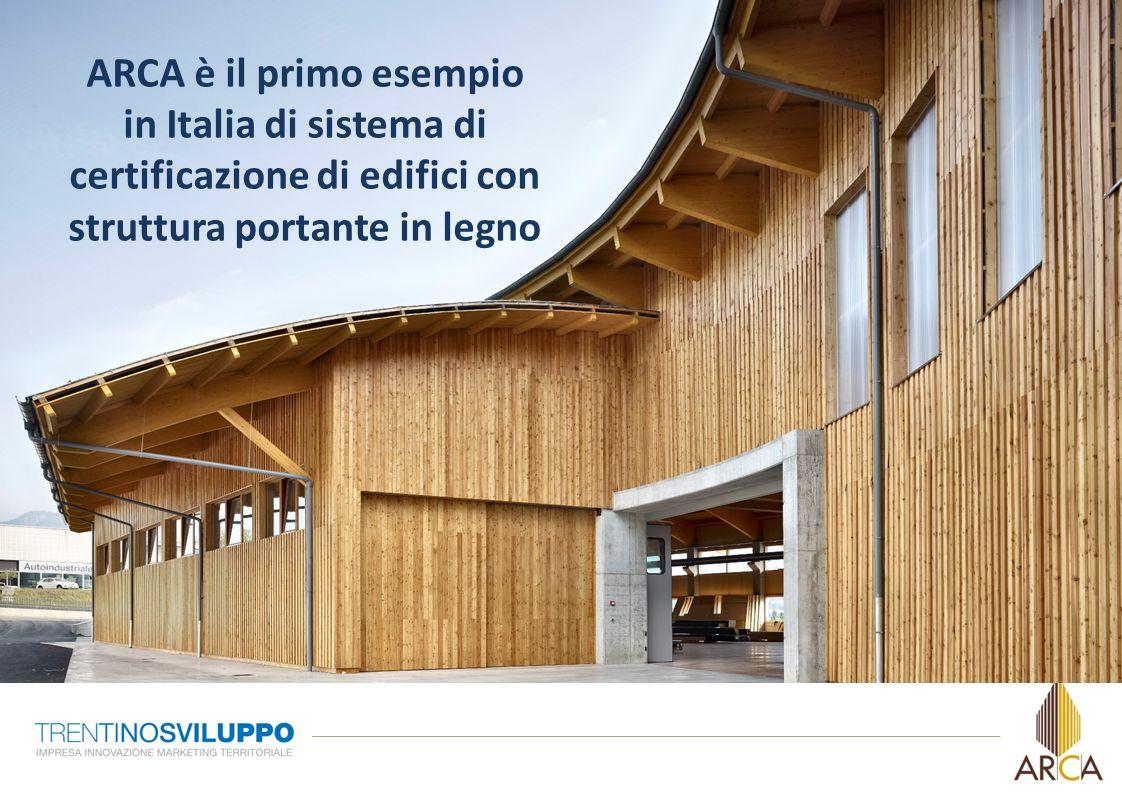 ARCA è il primo esempioin Italia di sistema di certificazione di edifici con struttura portante in legno.