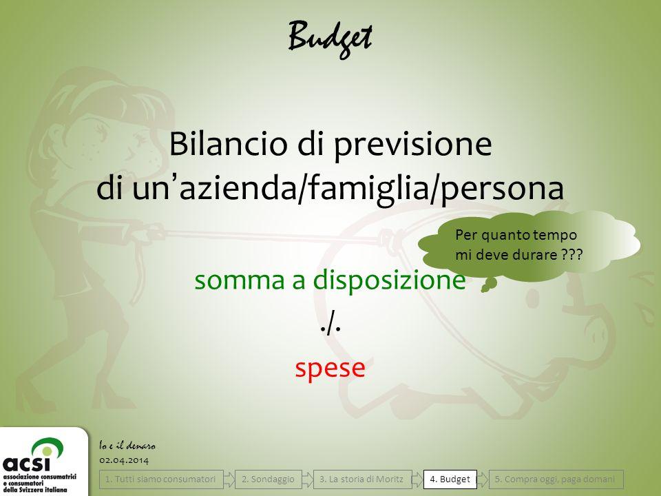 Budget Bilancio di previsione di un'azienda/famiglia/persona