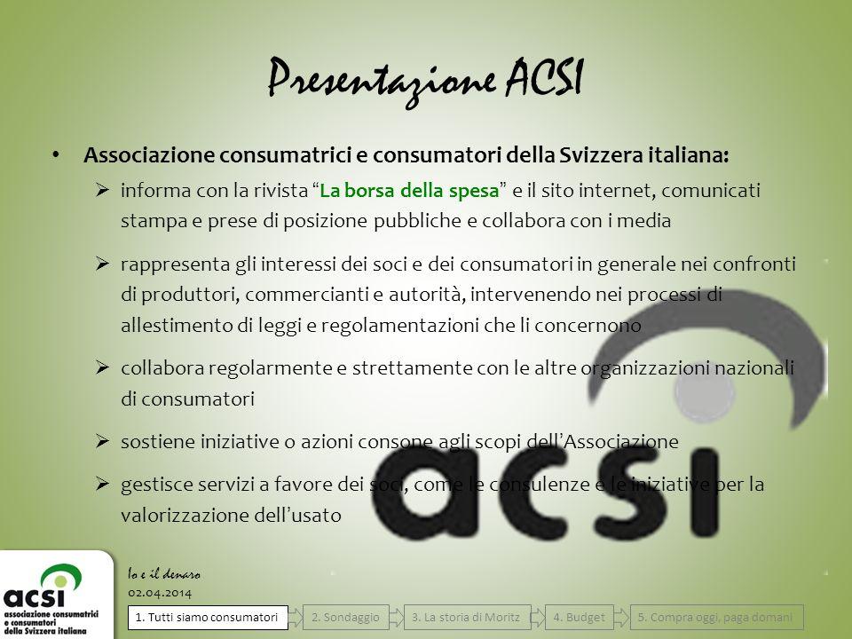 Presentazione ACSI Associazione consumatrici e consumatori della Svizzera italiana: