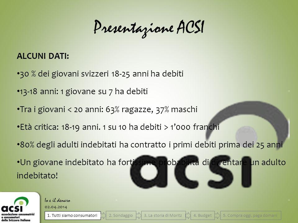 Presentazione ACSI ALCUNI DATI: