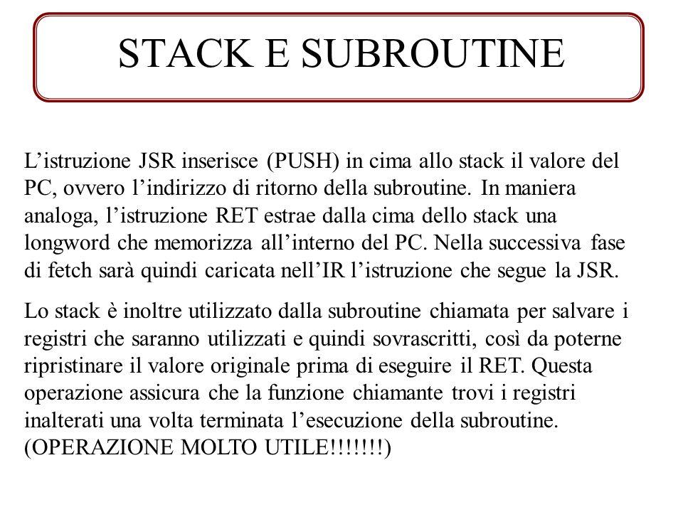 STACK E SUBROUTINE