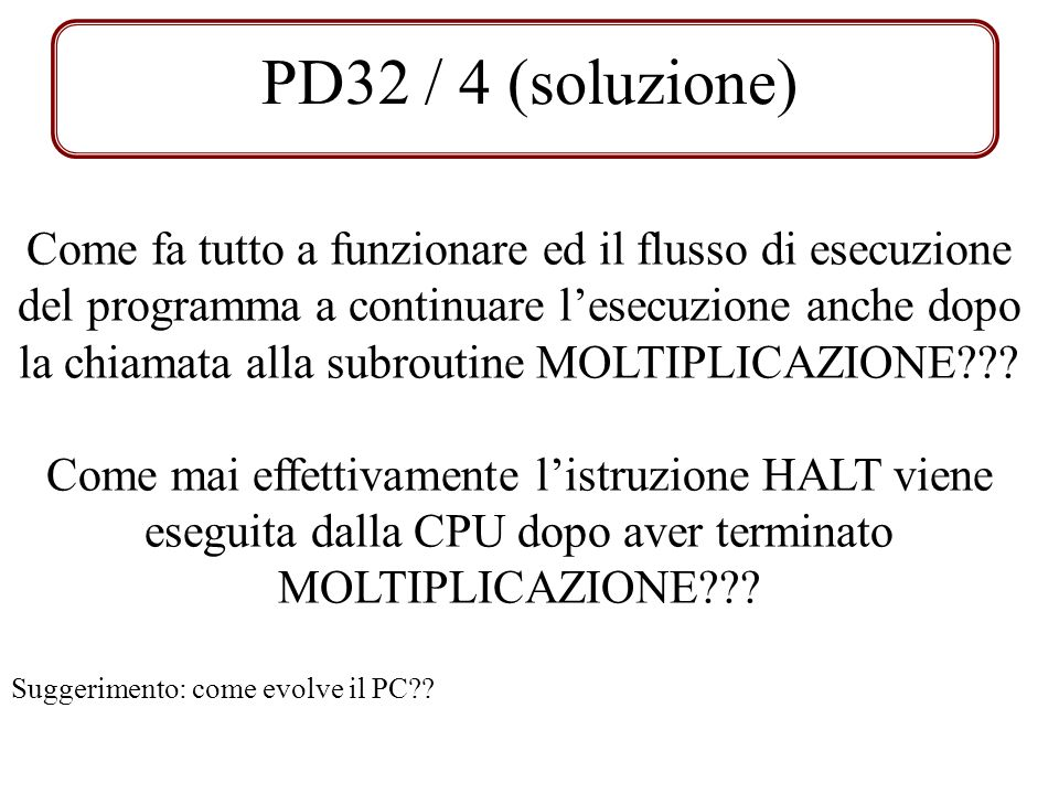 PD32 / 4 (soluzione)