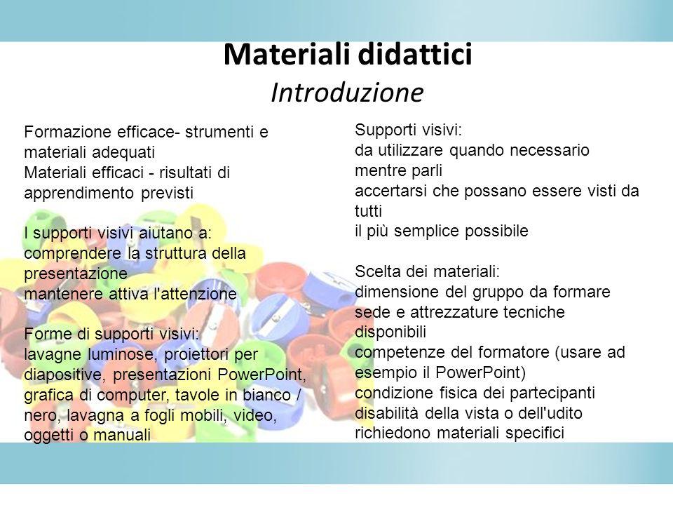 Materiali didattici Introduzione