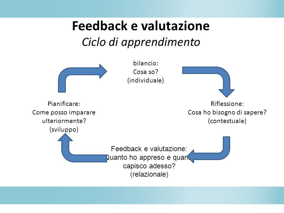 Feedback e valutazione