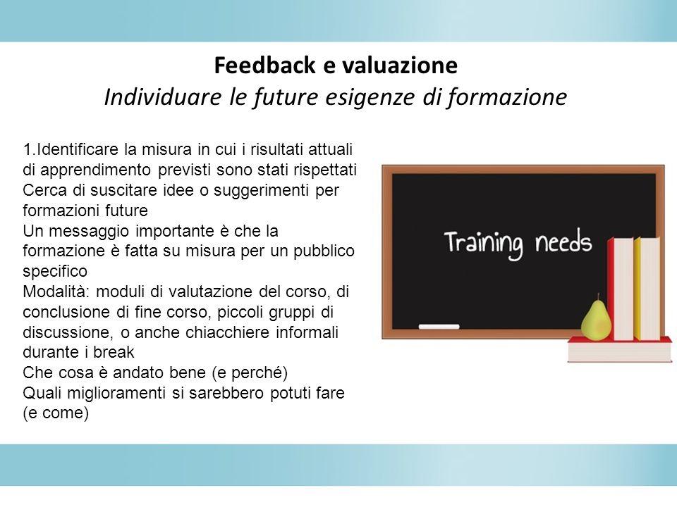 Individuare le future esigenze di formazione