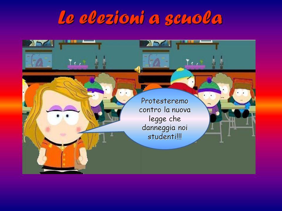Protesteremo contro la nuova legge che danneggia noi studenti!!!