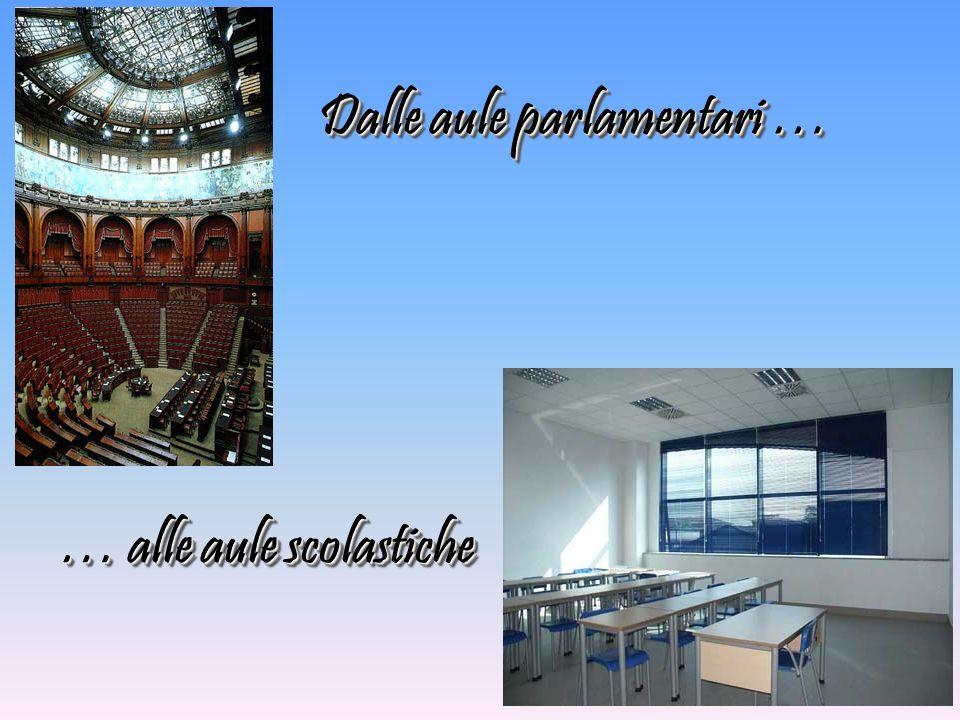 Dalle aule parlamentari …