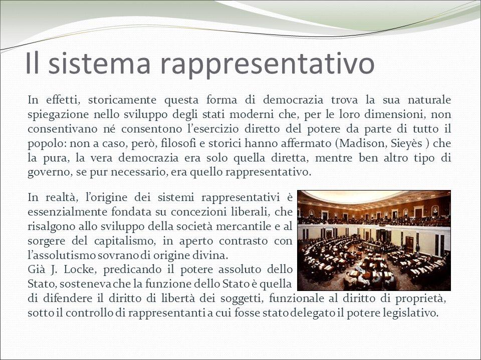 Il sistema rappresentativo