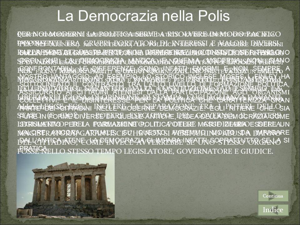 La Democrazia nella Polis