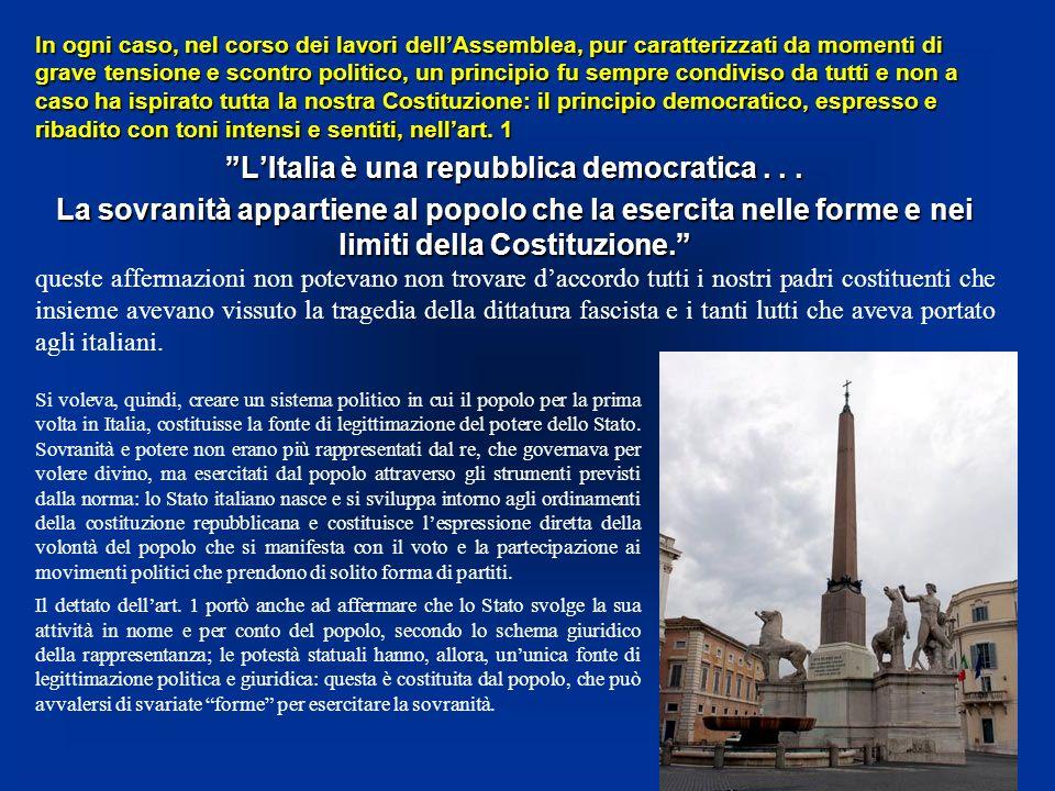 L'Italia è una repubblica democratica . . .