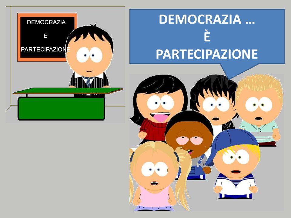 DEMOCRAZIA … È PARTECIPAZIONE