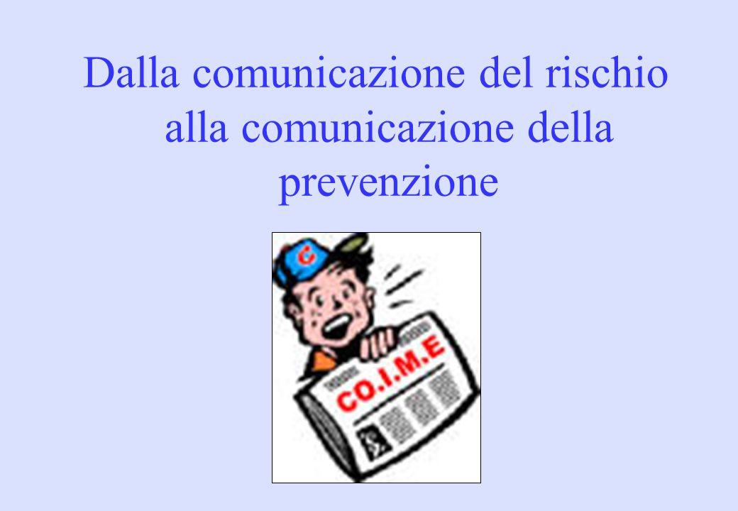 Dalla comunicazione del rischio alla comunicazione della prevenzione