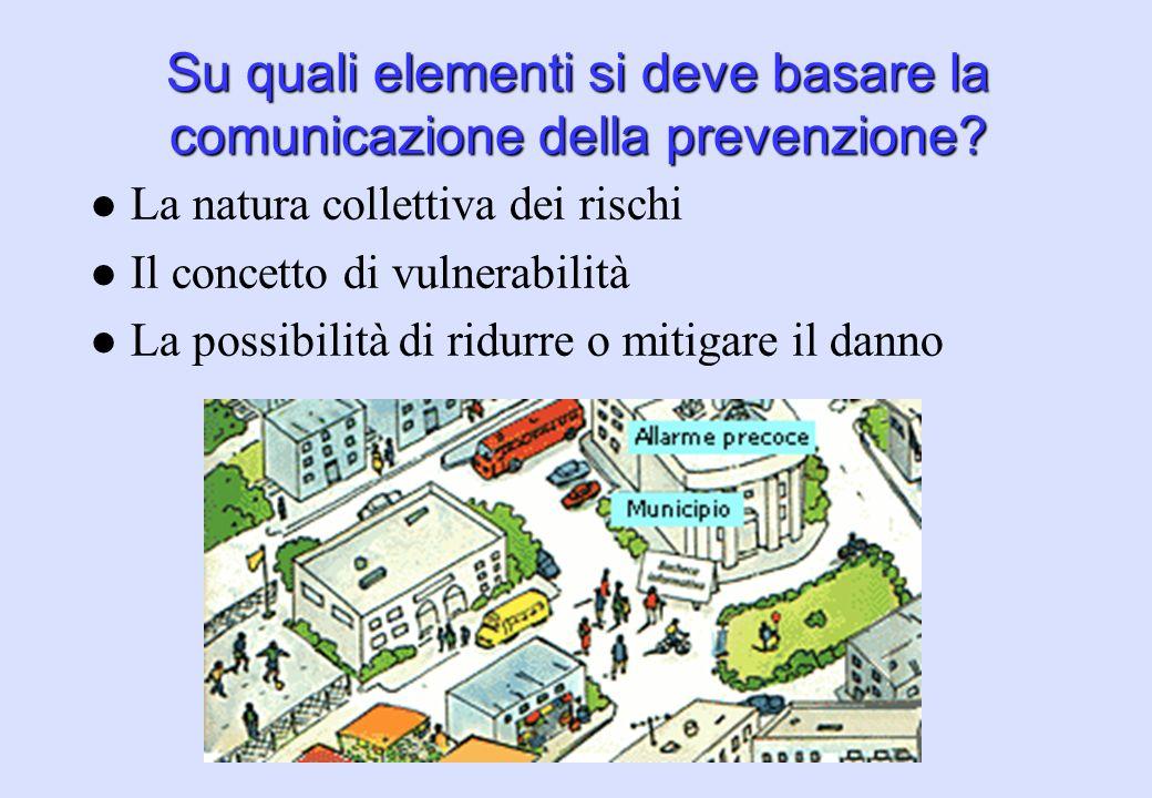 Su quali elementi si deve basare la comunicazione della prevenzione