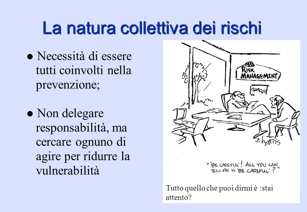 La natura collettiva dei rischi