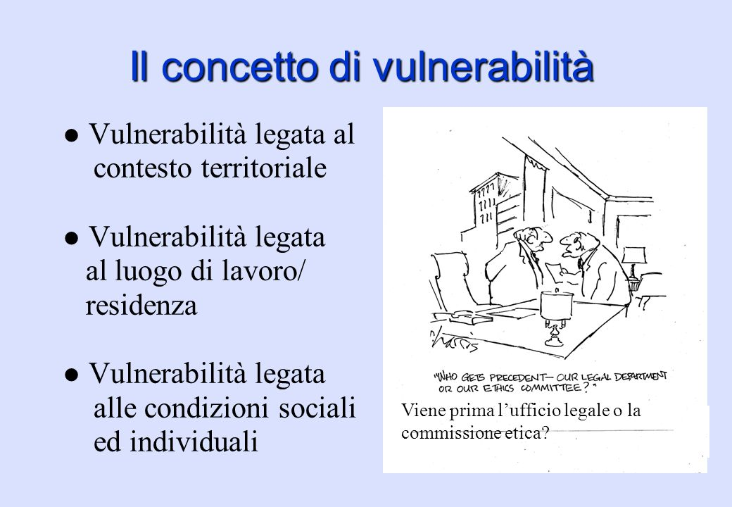 Il concetto di vulnerabilità