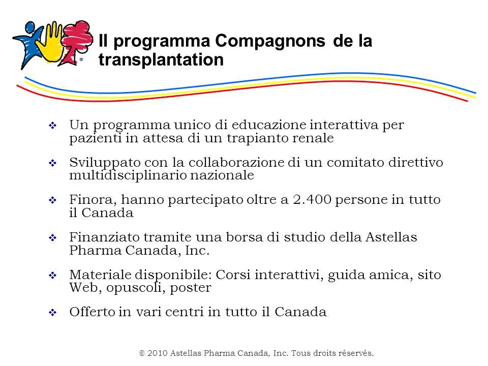 Il programma Compagnons de la transplantation