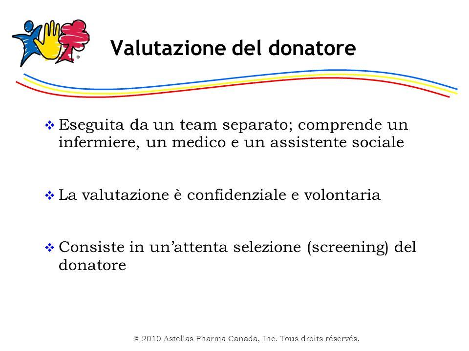 Valutazione del donatore