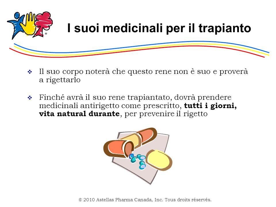 I suoi medicinali per il trapianto