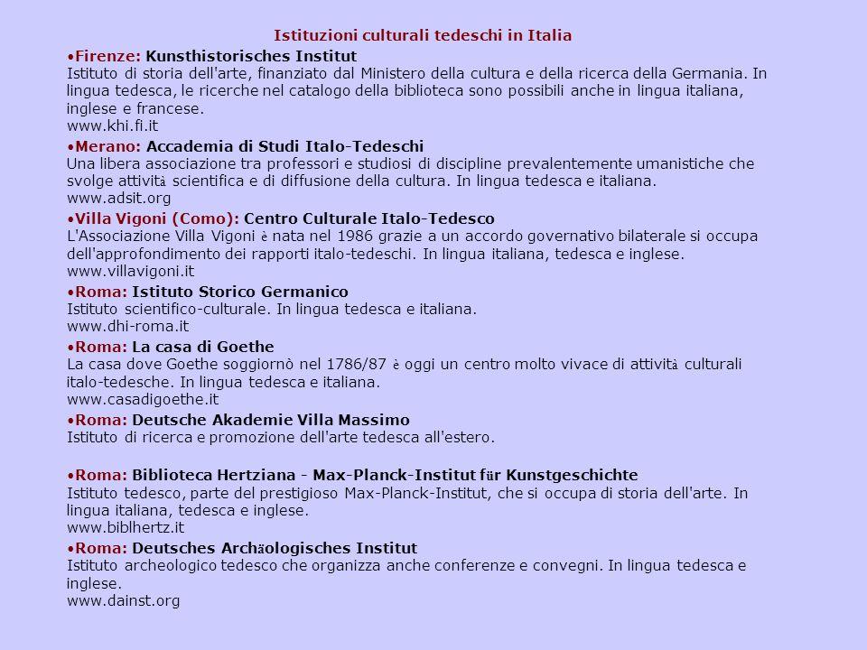Istituzioni culturali tedeschi in Italia