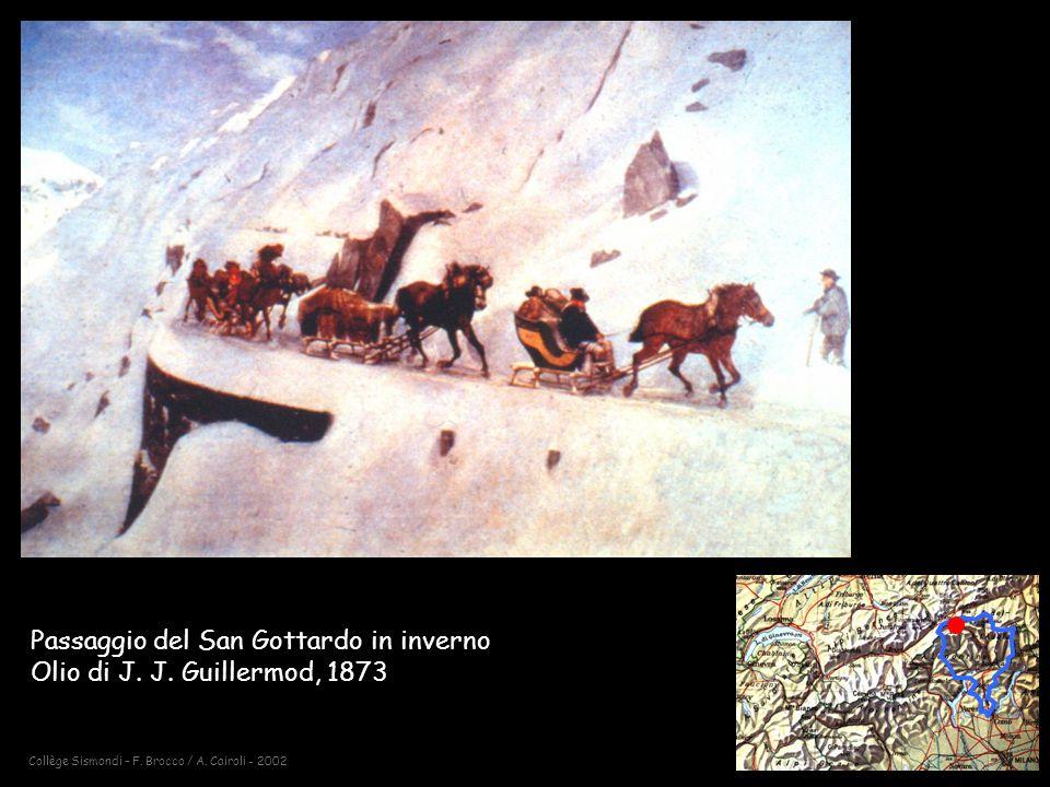 Passaggio del San Gottardo in inverno