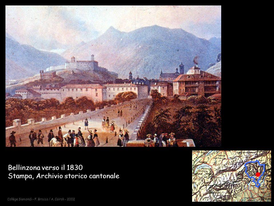 Bellinzona verso il 1830 Stampa, Archivio storico cantonale