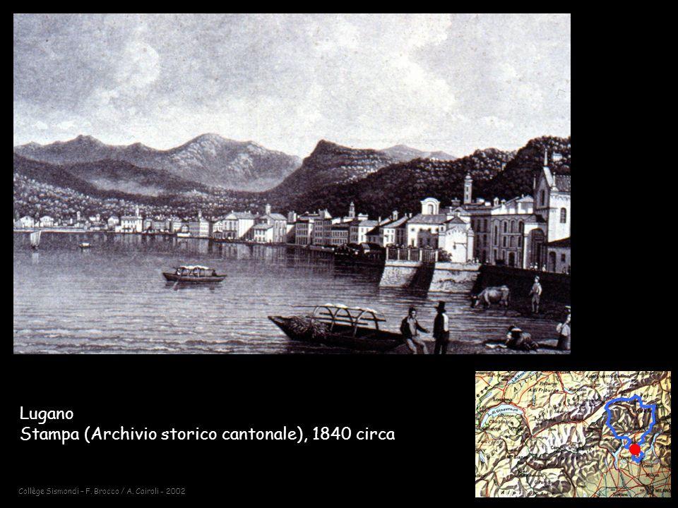 Lugano Stampa (Archivio storico cantonale), 1840 circa