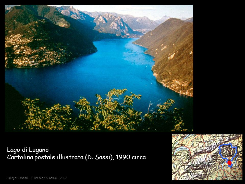 Lago di Lugano Cartolina postale illustrata (D. Sassi), 1990 circa