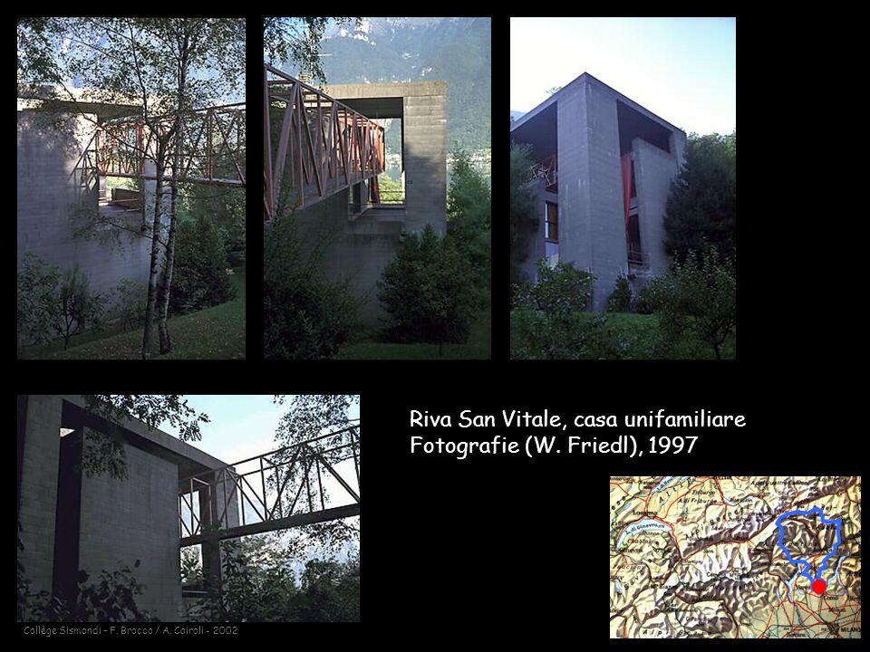 Riva San Vitale, casa unifamiliare Fotografie (W. Friedl), 1997