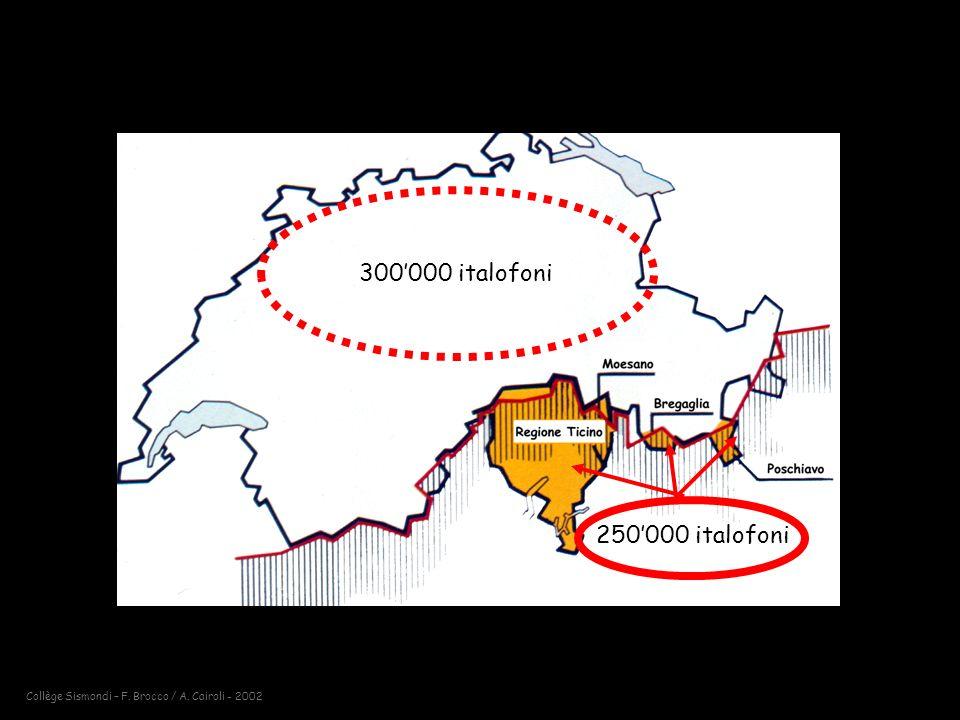 300'000 italofoni 250'000 italofoni
