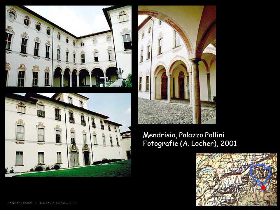 Mendrisio, Palazzo Pollini Fotografie (A. Locher), 2001