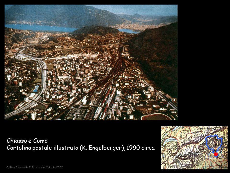 Chiasso e Como Cartolina postale illustrata (K. Engelberger), 1990 circa