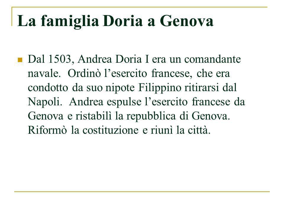 La famiglia Doria a Genova