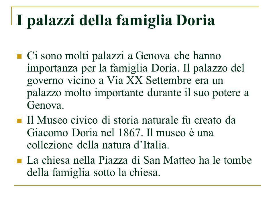 I palazzi della famiglia Doria