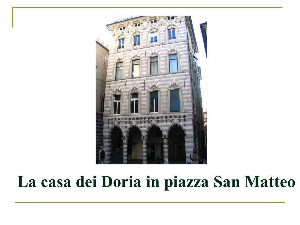 La casa dei Doria in piazza San Matteo